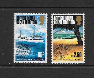BRITISH INDIAN OCEAN TERRITORY #57-58  VLH