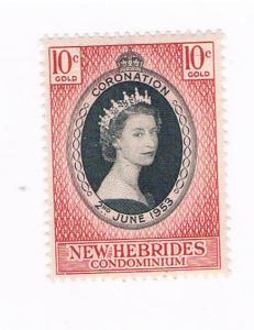 New Hebrides British 77 MNH Coronation Issue 1953 (N0639)