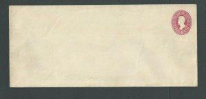 Ca 1887 U324 2c Carmine On White Mint Entire Has Mount Marks On Back Die 91-----