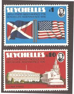 Seychelles 351-352 Mint VF NH