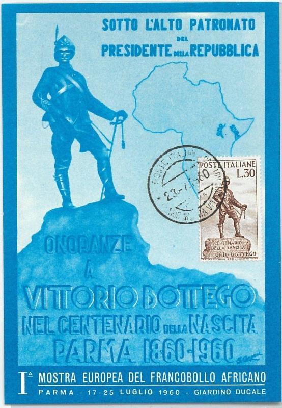 59159  -  ITALY - POSTAL HISTORY: MAXIMUM CARD 1960  - MILITARY Maps AFRICA