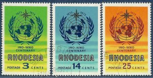 Rhodesia sg 481-3 used 1973 set of 3 IMO-WMO Centenary
