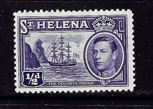 St Helena 118 Hinged 1938 issue