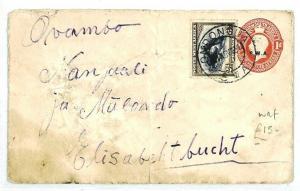 SOUTH WEST AFRICA Ondongua Elisabethbuch Overprint 1919 {samwells-covers} CW214