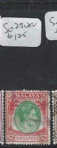 SINGAPORE  (P1404BB)  KGVI   $2.00  SG 29    VFU