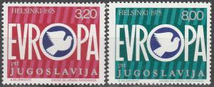 Yugoslavia #1271-2 MNH F-VF (SU2945L)
