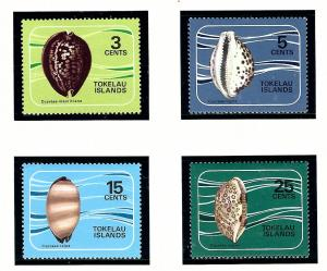 Tokelau Is 41-44 MNH 1974 Sea Shells
