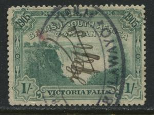 Rhodesia 1905 1/ green used with revenue cancels.