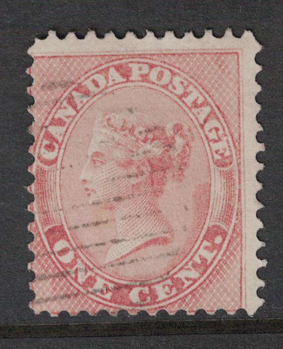 Canada # 14  Used  VF sound with light cancel Cat $ 125