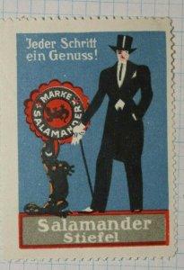 Salamander Shoes for Men German Brand Poster Stamp Ads