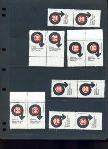 12 VINTAGE 1970 VIENNA INTERNATIONAL  TRADE FAIR EXPOSITION POSTER STAMPS (L766)