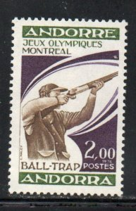 Andorra (Fr) Sc 249 1976 Montreal Olympics Shooting stamp  mint NH