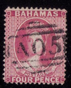 Bahamas Scott #18b Used Famous A05 Cancellation F-VF