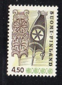 Finland Sc 569 1976 4.5m Wooden Distaffs stamp mint NH