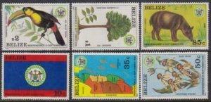 Belize 1981-1982 SC 594-599 MNH Set Birds Animals