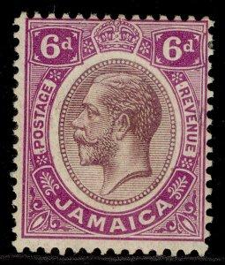 JAMAICA GV SG64b, 6d dull purple & bright magenta, M MINT.