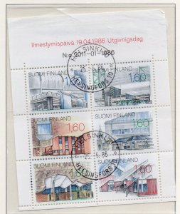 Finland Sc 737 1986 Buildings stamp booklet pane used