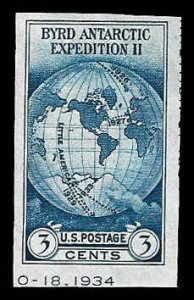 PCBstamps      US # 735a S.S. sgl. 3c Byrd Antarctic, MNH, (13)