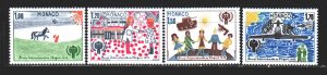 Monaco. 1979. 1371-74 from the series. UNICEF, children's drawings. MNH.