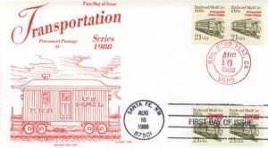 1988 RailRoad Mail Car (Scott 2265) Gamm Dual Cancel