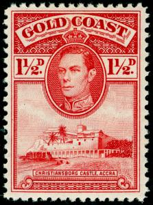 GOLD COAST SG122, 1½d Scarlet Line Perf 12, LH MINT. Cat £19.
