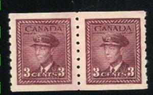 Canada #266   pair   Mint NH VF 1943   PD