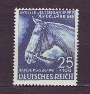 J23292 JLstamps 1941 WWII germany set of 1 mh #b191 horse