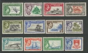 Gilbert & Ellice Islands 1939 Definitive Set Of 12 MNH SG43-SG54