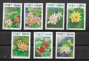 Vietnam Used 1849-55 Flowers