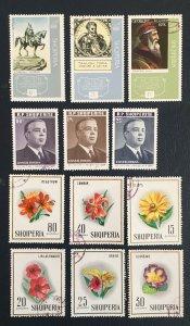 Albania, 1967,Sc11186,1148,1110,Pinning,flowers,Enver Hoxha, Skanderbeg
