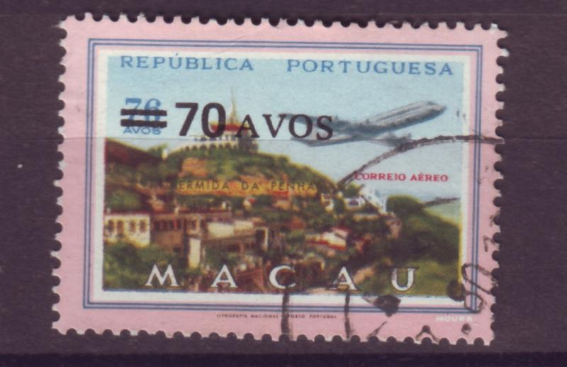 J17746 [low price] JLstamps 1979  macao used #c21 airmail ovpt