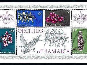 [79972] Jamaica 1973 Flora Flowers Blumen Orchids Souvenir Sheet MNH