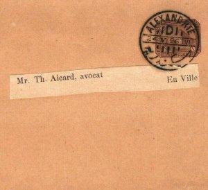 EGYPT Postal Stationery WRAPPER Alexandria 1896{samwells-covers}SW3