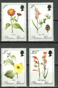 Pitcairn # 110-13  Flowers  (4)  Mint NH