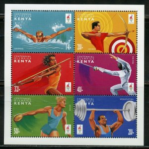 KENYA CENTENNIAL OLYMPICS SET OF TWO  SHEETS  MINT NH
