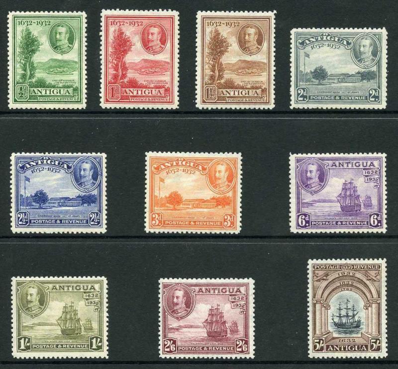 Antigua SG81/90 1932 Tercentenary Set of 10 M/Mint