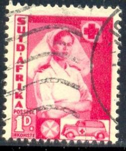 Nurse and Ambulance, South Africa SC#82b used