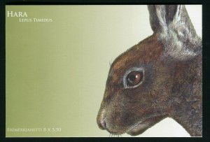 Faroe Islands 455a Rabbits Hare Stamp Booklet