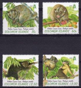Solomon Islands 1997 Sc#843/846 NORTHERN COMMON CUSCUS Set (4) MNH