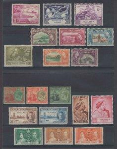 BC TRINIDAD & TOBAGO 1922-53 Sc 28, 32-3, 47-49, 62-69, 74, 76-79 MINT+ SCV$53+