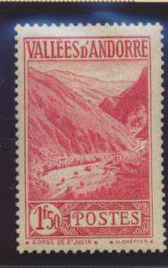 Andorra (French Administration) Stamp Scott #53A, Used - Free U.S. Shipping, ...