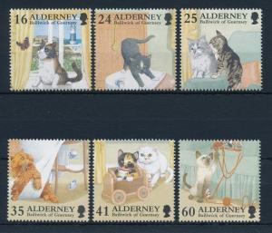 [30913] Alderney 1996 Animals Cats MNH