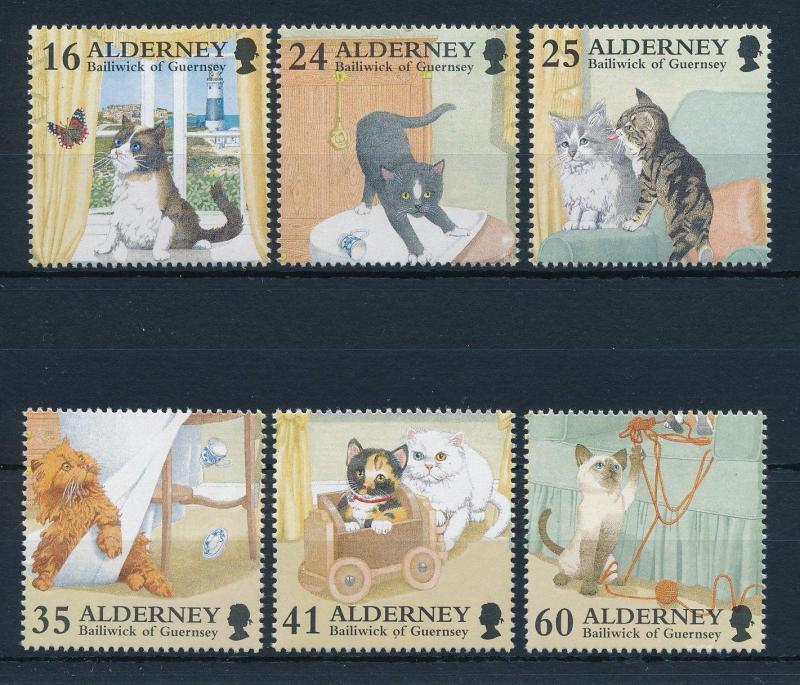 [30913] Alderney 1996 Animals Cats MNH