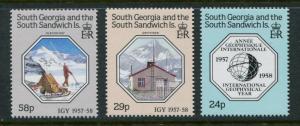 South Georgia #124-6 MNH