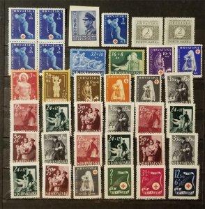 CROATIA Stamp Lot MH Mint Hinged Unused T8181