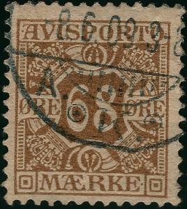 Denmark 1907 Scott P7 Fine attractive Cancel Cat $40 Solid Bargain!
