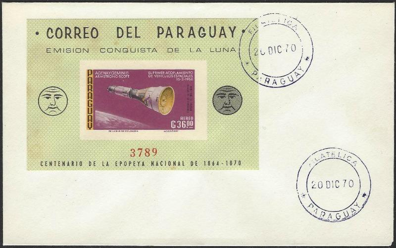 Paraguay Mi Block #90 on 1970 Cover