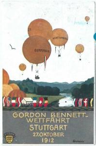 71715 - GERMANY - Postal History - GORDON BENNET Balloon - Muller # 61 1912