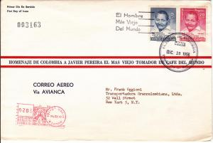 Colombia  # 668 & C324 on 1st Day Cover