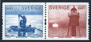 Sweden 2443 ab pair,MNH. Gronkopings Veckoblad Satirical Newspaper,100,2002.